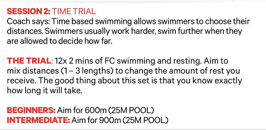 Get Speedo Fit Week 2 T Time Trial